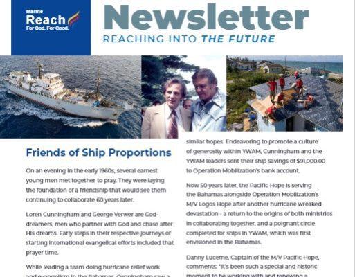 YWAM Marine Reach Monthly Newsletter